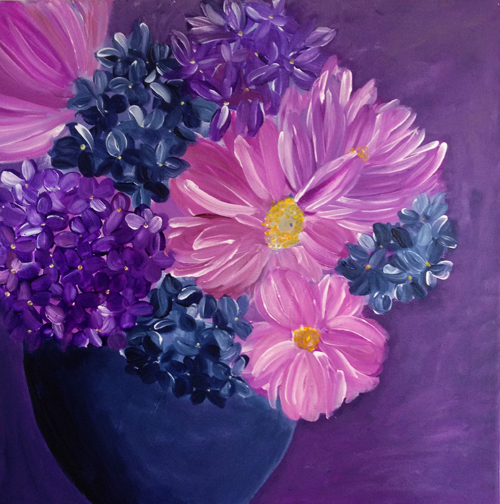 maleri, blomstermaleri