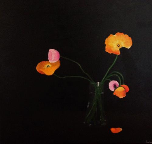 stilleben, maleri, blomstermaleri
