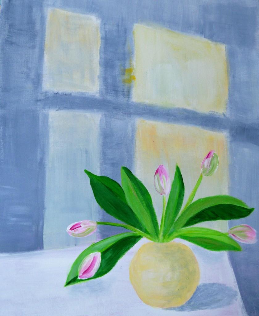 stilleben, maleri, blomtsermaleri