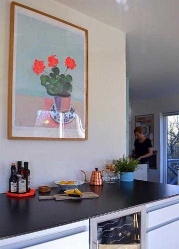 Plakat i køkken