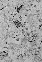Blomsterhav - Udkast til vægmaleri