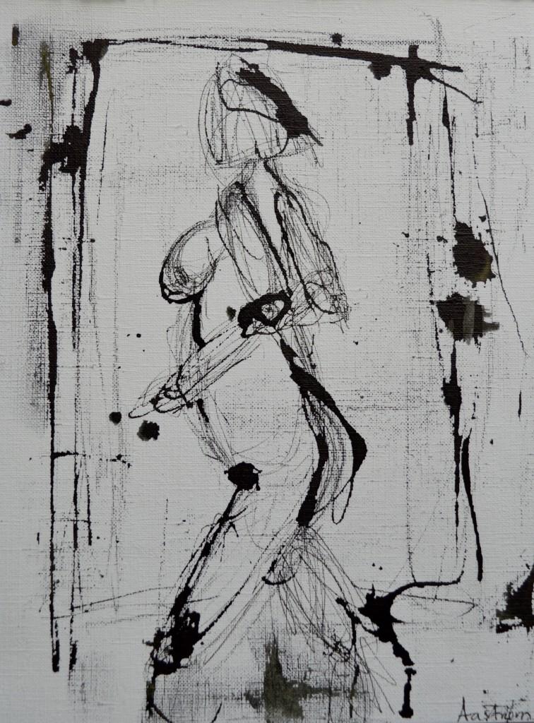 illustration, tegning, kvindekrop