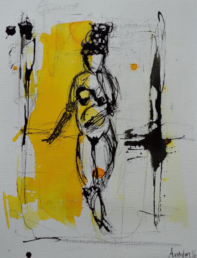 Kvinde med hovedbeklædning, illustration, kvindekrop, the future is female