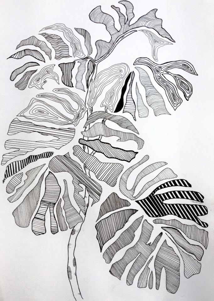 Blade på gren