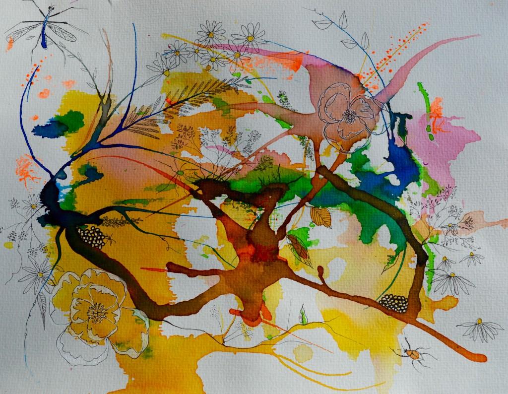 Akvarel, Botanik, Mixedmedia