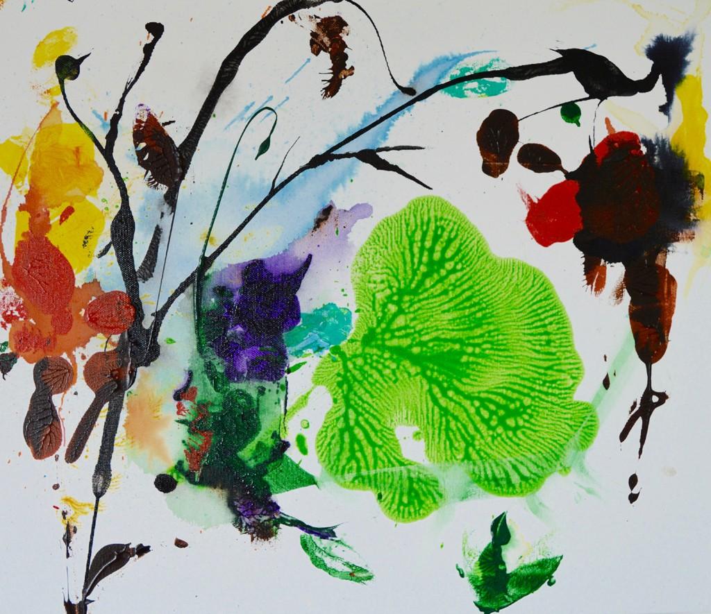 Maleri, abstrakt, botanik