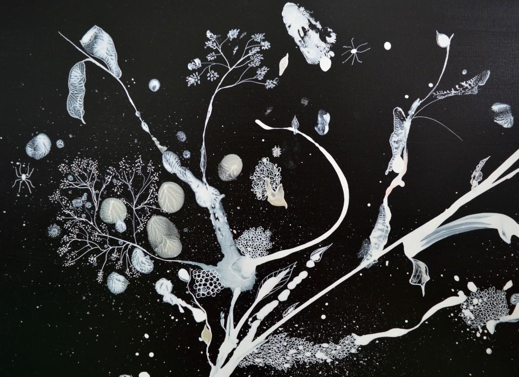 Maleri, abstrakt, rod, botanik