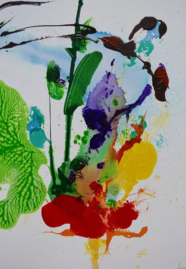 Maleri, abstrakt, botanik,