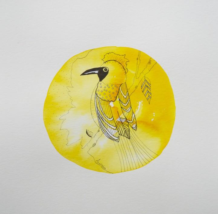 Gul fugl (vælg med eller uden tekst)