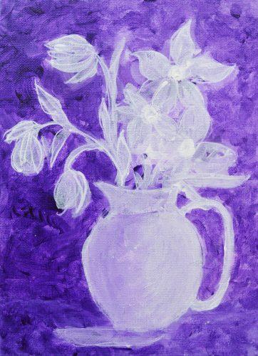 Nordisk lilla, blomstermaleri