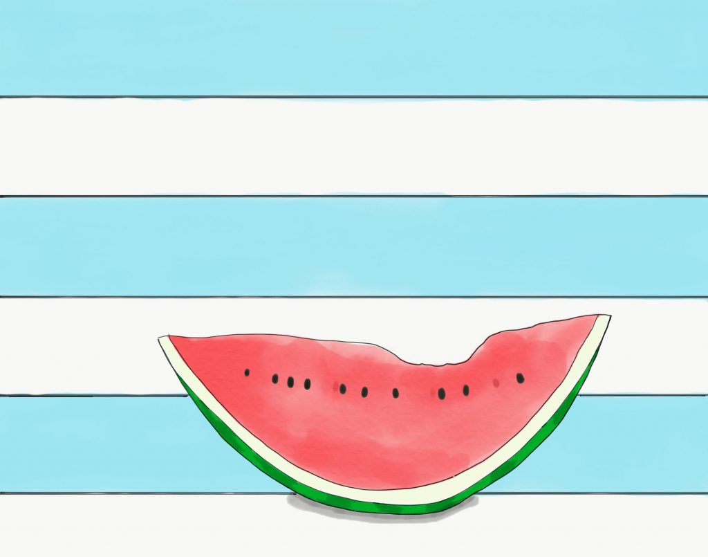 illustration, vandmelon