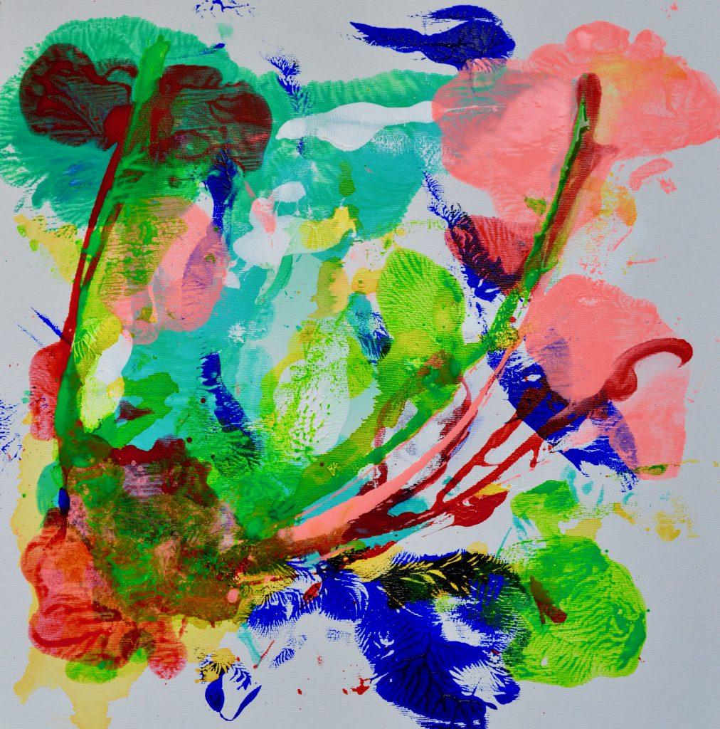 Maleri, botanik, abstrakt, mixedmedia