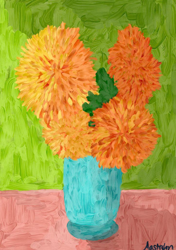 Blomster, digital kunst, digital art