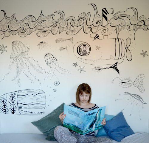 Vægmaleri, vinduesmaleri, tegne på vinduer, vægdekoration, vindues dekoration