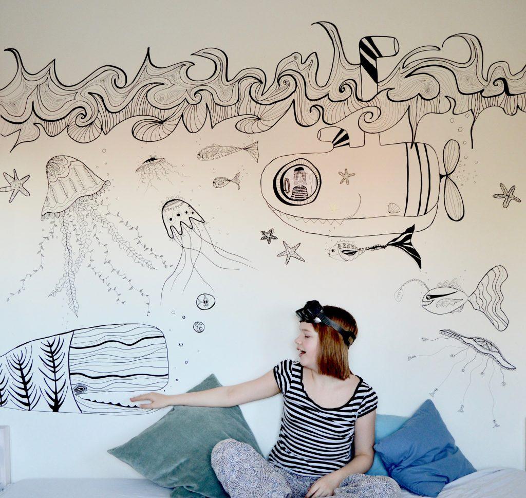 Vægmaleri, børneværelse