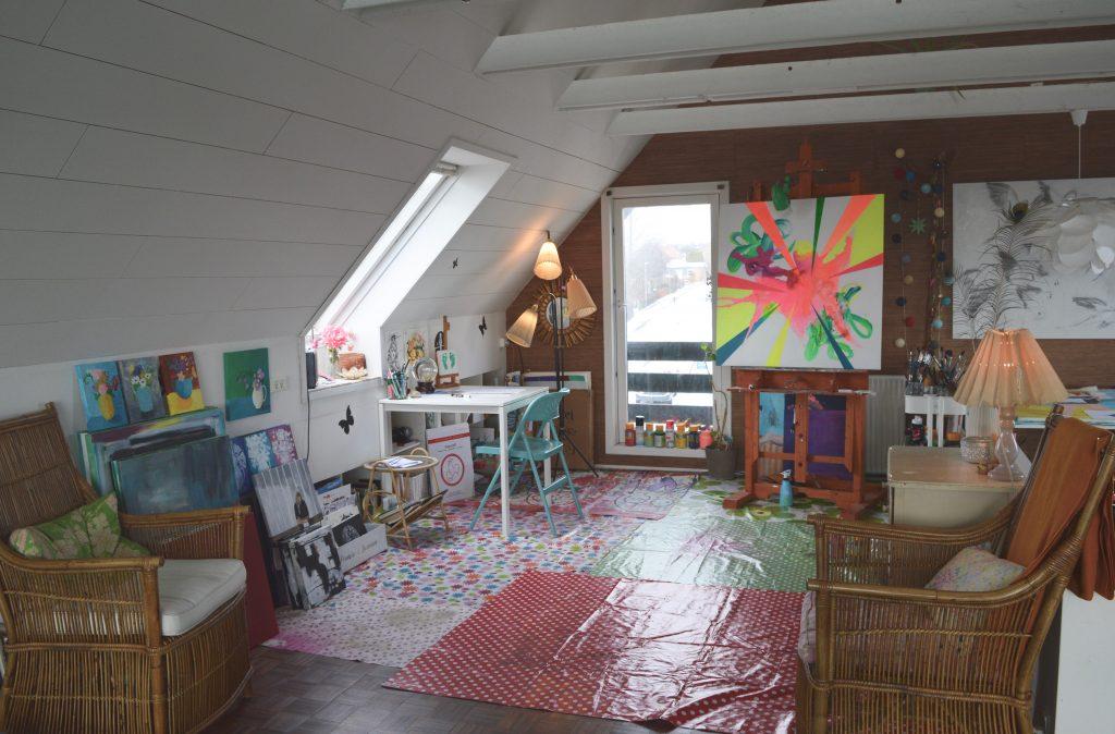 Malerier, atelier, aarhus