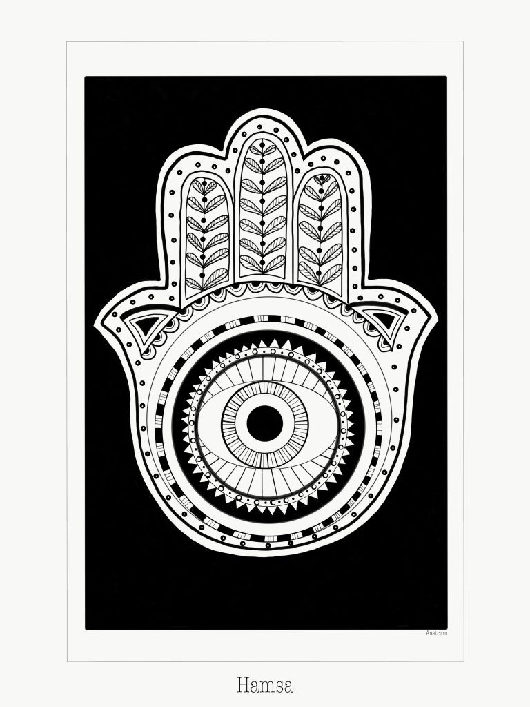 Hamsa, illustration, symbolisme, spiritualitet, spirituel kunst, art, yoga