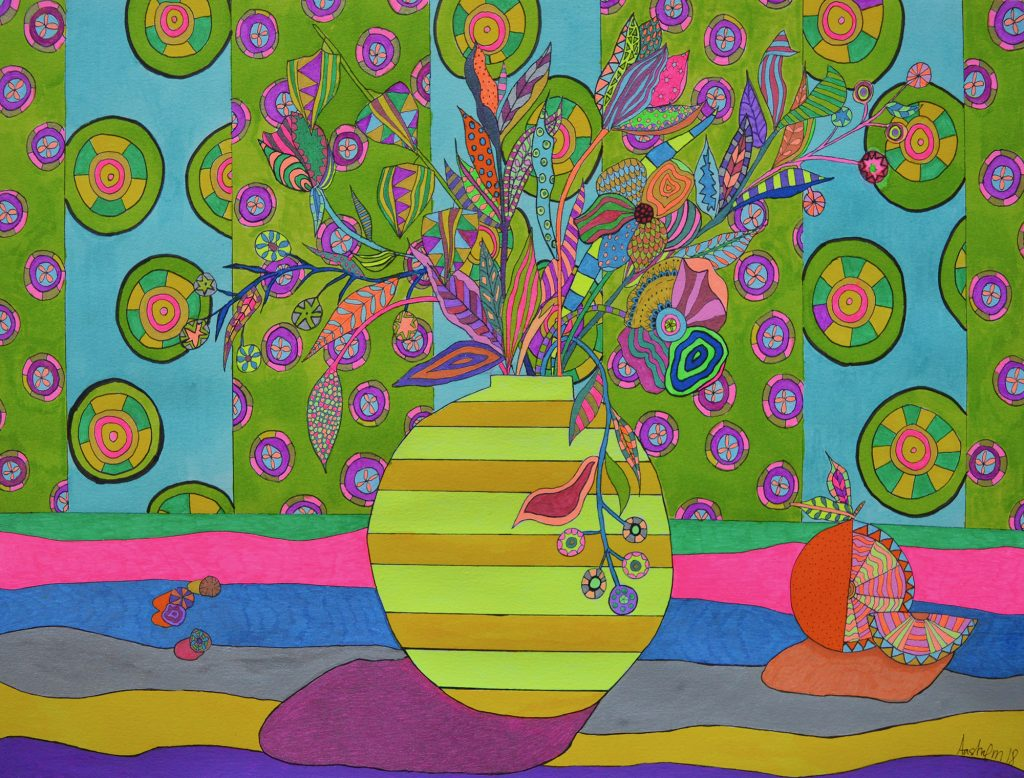 blomstermaleri, illustration, stil life, stilleben, floral design