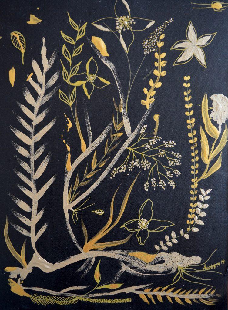 maleri, painting, botanik, botanic, botanical decor, flower decor, dekoration