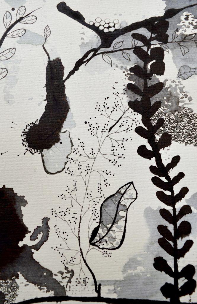 Botanisk maleri, Bjørn Wiinblad, botanik, maleri, Botanical painting