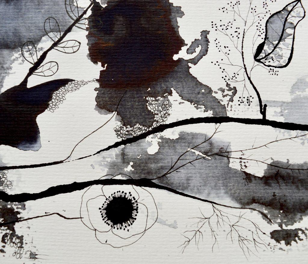 Botanisk maleri, Bjørn Wiinblad, maleri, blæk, botanik, Botanical painting, decor