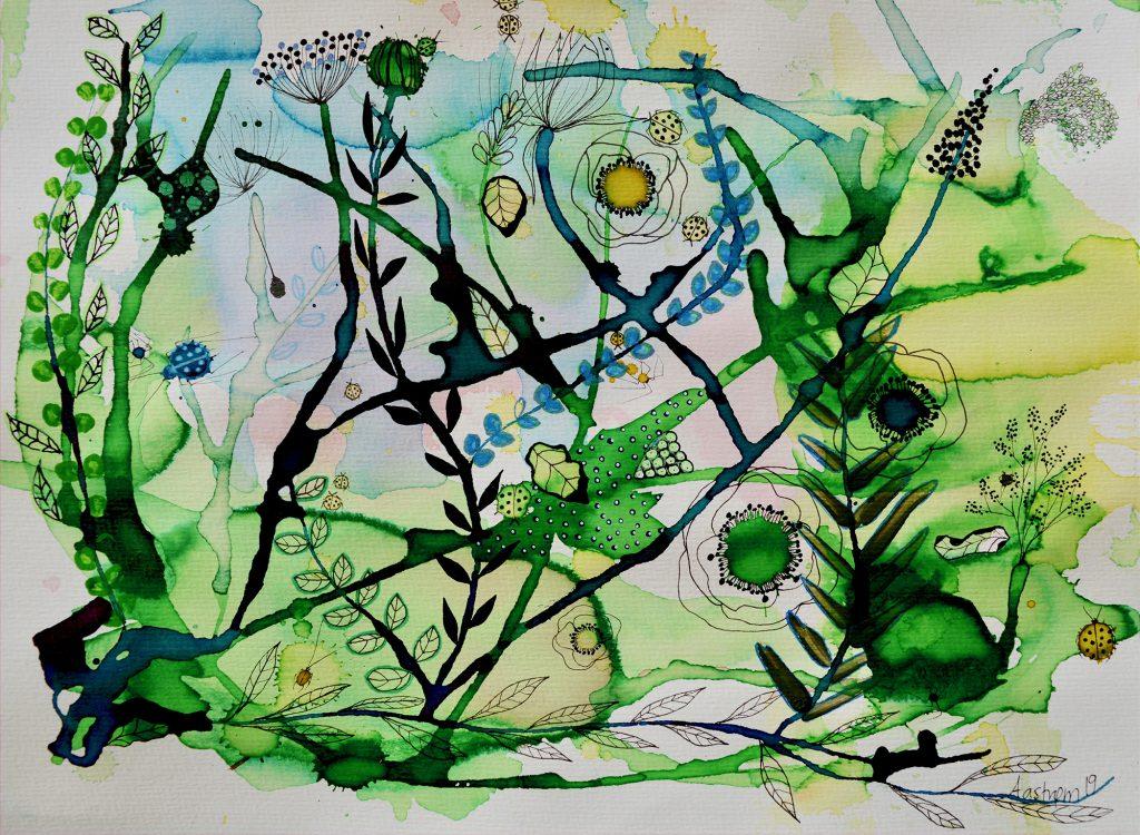Botanisk maleri, botanik, botanic, bjørn wiinblad, blomstermaleri, botanical decor, flower decor