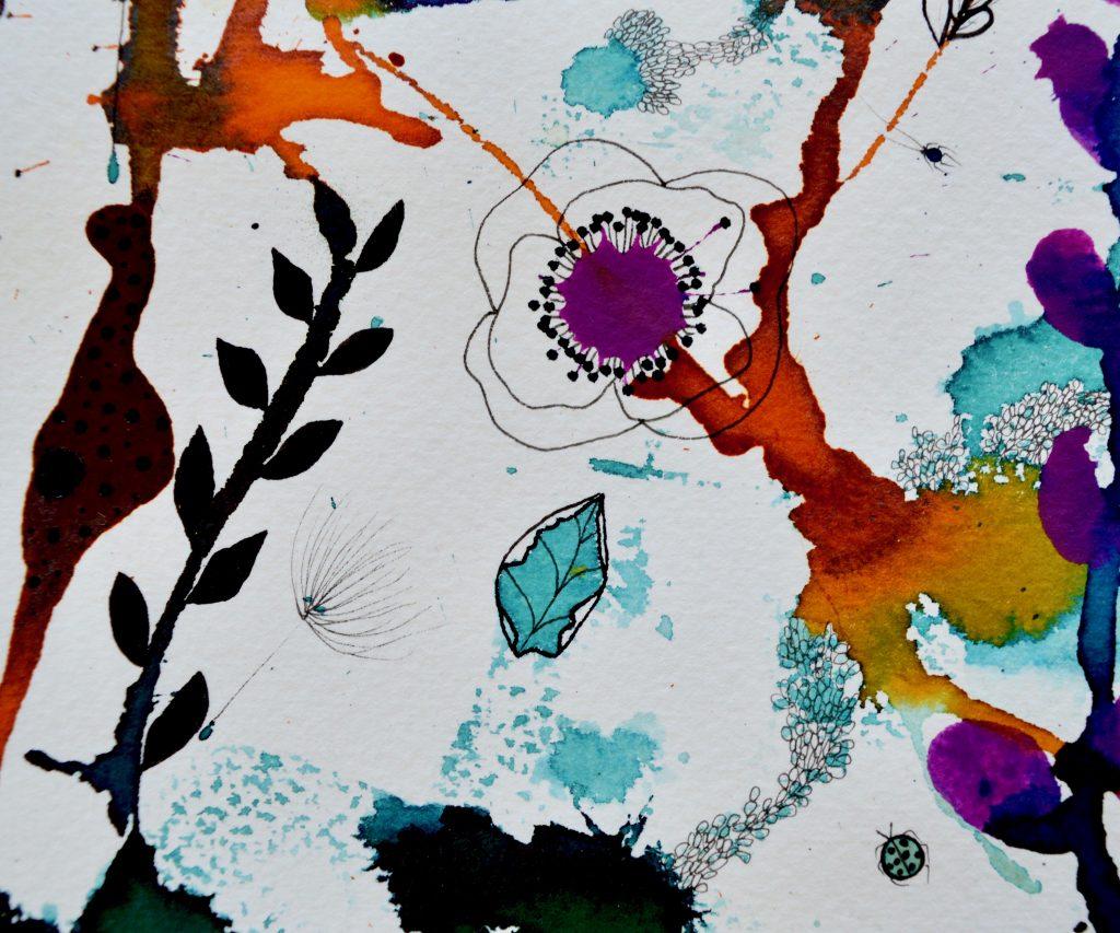 Botany, botanik, botanik maleri, botanical painting, botanical decor, bjørn wiinblad, blomstermaleri