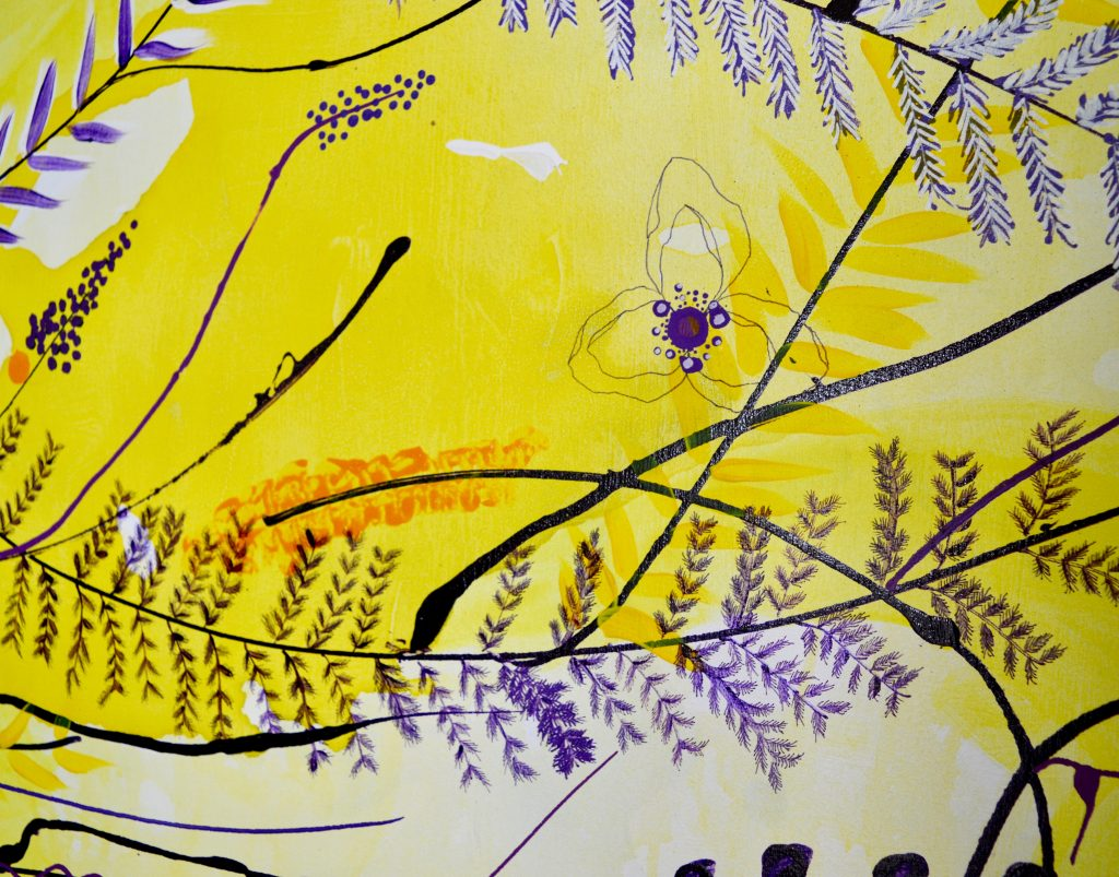 Vestenvind, botanisk maleri, botanical painting, blomstermaleri, flower painting, botanical decor