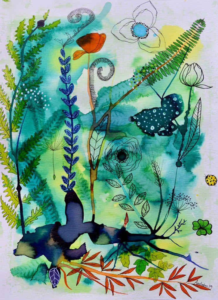 bjørn wiinblad, blomstermaleri. botanical painting, botanik, botany, botanisk maleri,