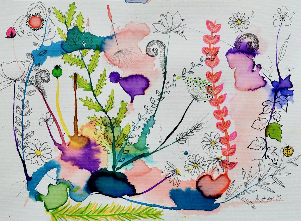 bjørn wiinblad, blomstermaleri. botanical painting, botanik, botany, botanisk maleri, efeu