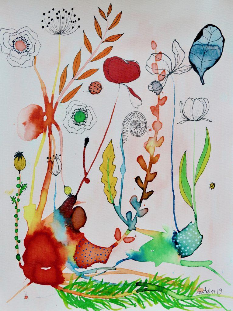teater, bjørn wiinblad, blomstermaleri, botanik, botanisk maleri