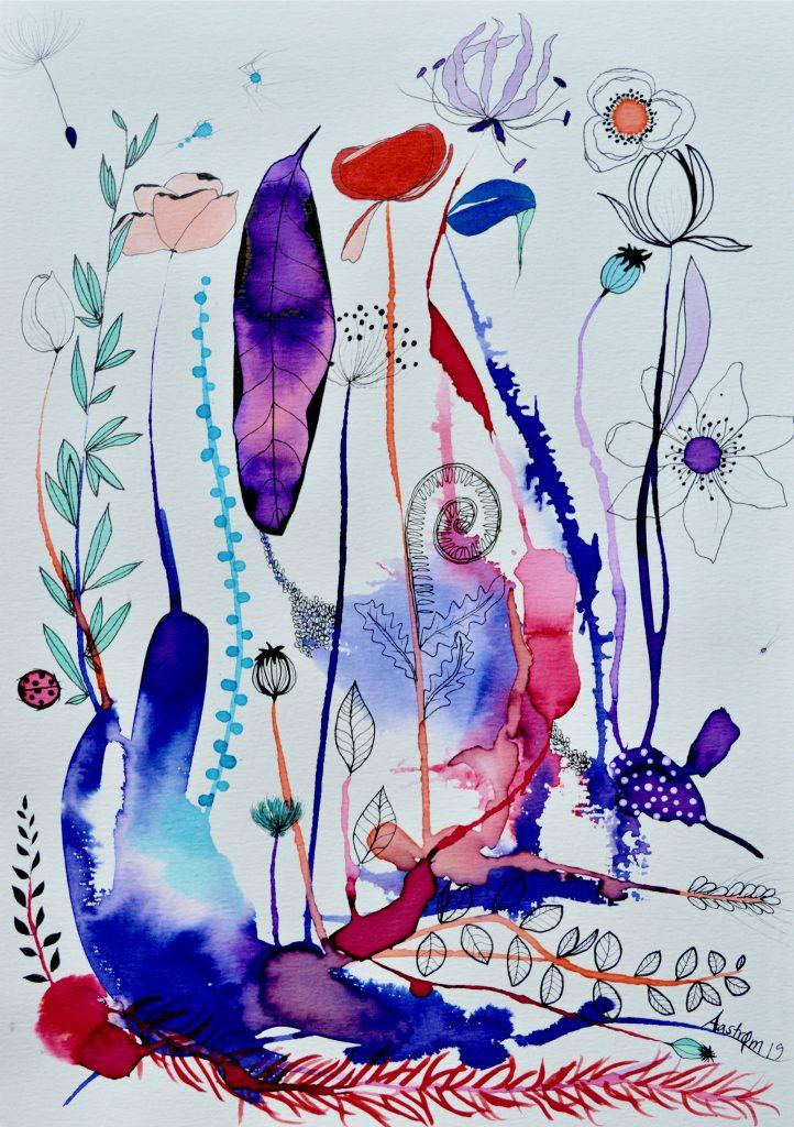 bjørn wiinblad, botanik, blomstermaleri, botanik, botanisk maleri, botanisk illustration