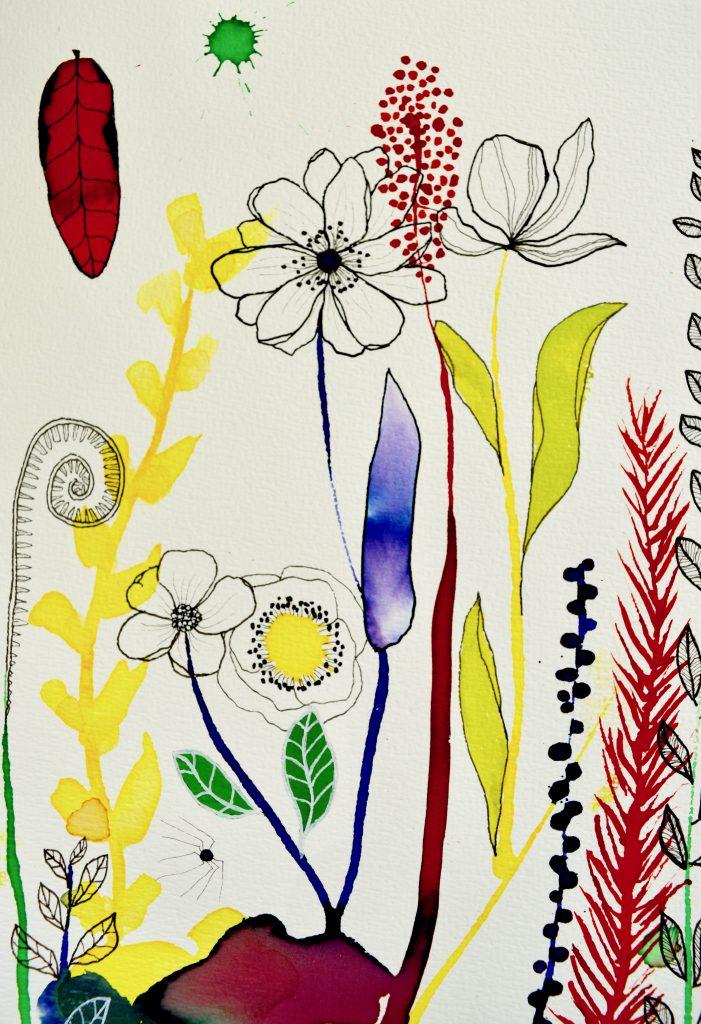 bjørn wiinblad, botanik, botanical illustration, botanisk illustration, blomster illustration, blomster maleri