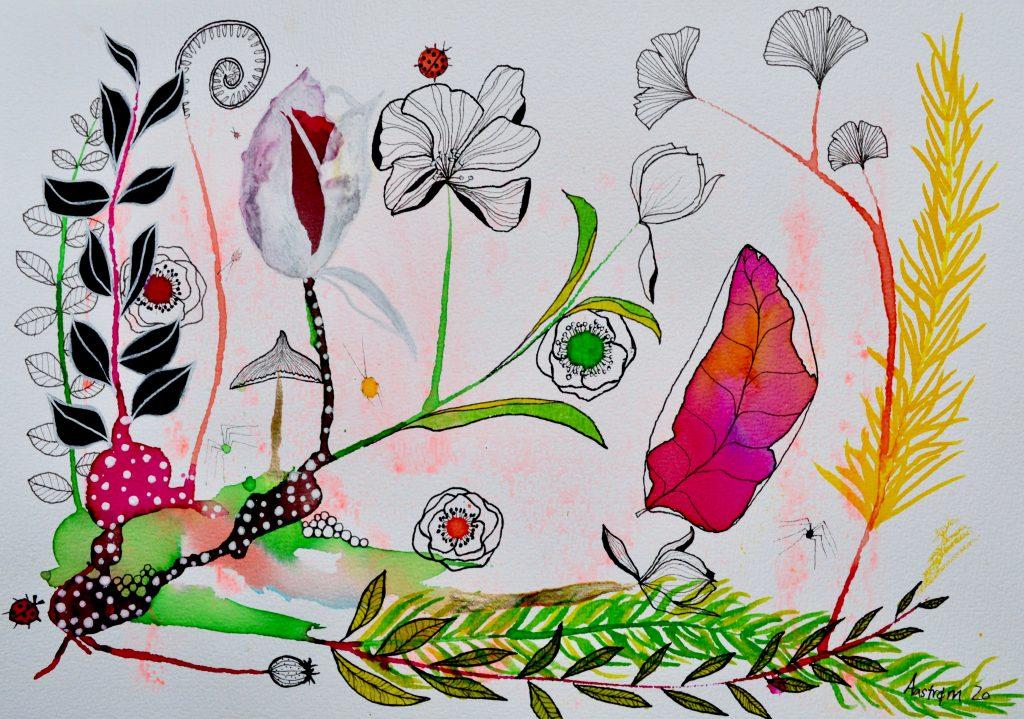 bjørn wiinblad, botanisk illustration, akvarel, blomster maleri, botanik