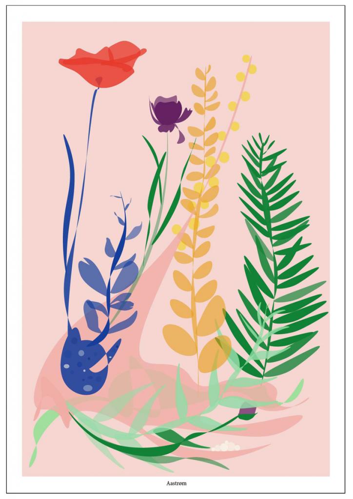 botanik botanisk illustration grafik blomstermaleri haveliv, plakat, plakatkunst