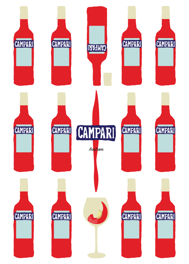 Campari, campari, red, rød, plakat, Andy Warhol